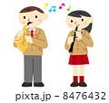 サックスとオーボエ演奏 8476432