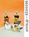 年賀状素材 午 年賀素材の写真 8504496