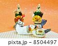 年賀状素材 午 年賀素材の写真 8504497
