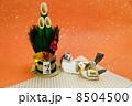 年賀状素材 午 年賀素材の写真 8504500
