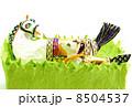 年賀状素材 午 年賀素材の写真 8504537