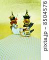 年賀状素材 午 年賀素材の写真 8504576