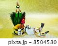 年賀状素材 午 年賀素材の写真 8504580