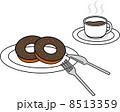 ドーナツ コーヒー 8513359