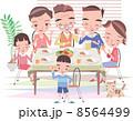 三世代家族 ファミリー 家族のイラスト 8564499