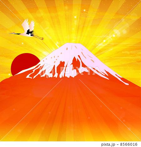 富士山 日の出 正月 背景 のイラスト素材 19064249 Pixta