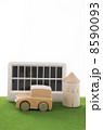 ソーラーパネル 自然エネルギー人差し指 自動車の写真 8590093