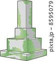 苔むした墓石 8595079