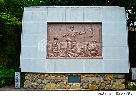 「信徒発見」のレリーフ(大浦天主堂/長崎県長崎市南山手町) 8597796