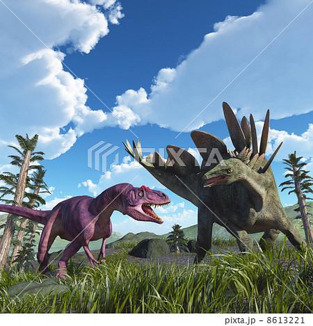 アロサウルスとステゴサウルス その1 8613221