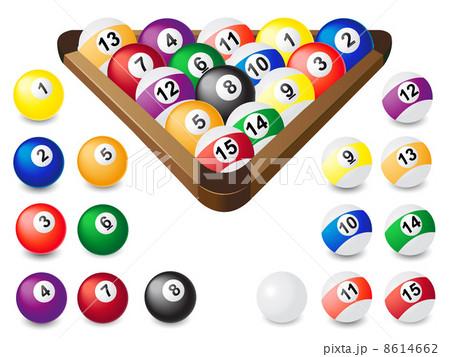 balls for billiardsのイラスト素材 [8614662] - PIXTA
