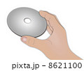 ディスク(CD,DVD.BD)を持つ手 8621100