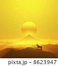 午 年賀2014 日の出のイラスト 8623947