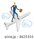 出張 航空機 ビジネスマンのイラスト 8625354