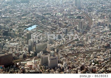 西武新宿から大久保駅付近を空撮 8628083