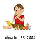 クリーム 少年 アイスのイラスト 8642668