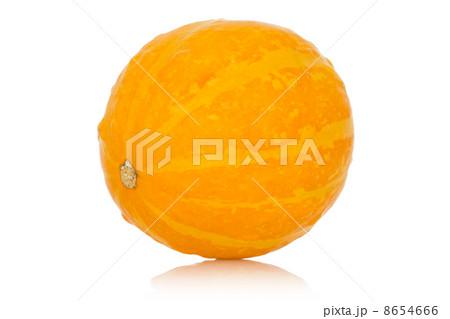 Yellow pumpkin on a white backgroundの写真素材 [8654666] - PIXTA