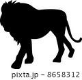 ライオンのシルエット 8658312
