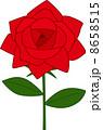 ベクター バラ 薔薇のイラスト 8658515