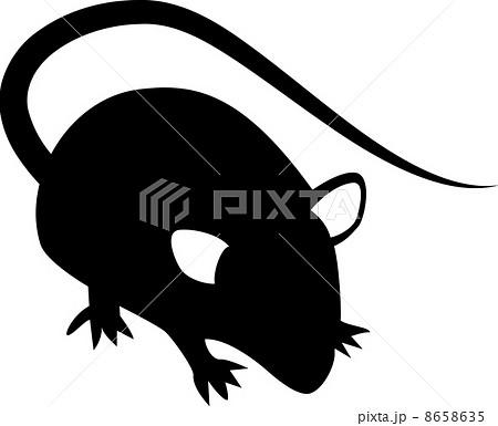 ネズミのシルエットのイラスト素材 [8658635] , PIXTA