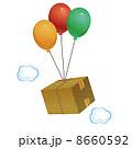 段ボール箱 風船 段ボールのイラスト 8660592