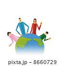 グローバル 地球 世界のイラスト 8660729