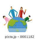親子 世界 地球のイラスト 8661182