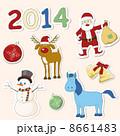 クリスマス ベクター セットのイラスト 8661483