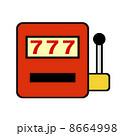 777 スリーセブン スロットマシンのイラスト 8664998