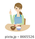 味噌汁 主婦 和食のイラスト 8665526