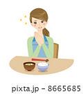日本食 主婦 食事のイラスト 8665685