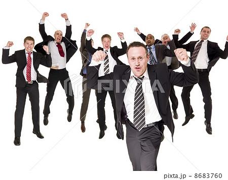 Happy businessmen 8683760