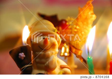 クリスマスケーキのスノーマン 8704168