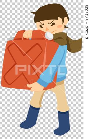 ポリタンクを運ぶ少年 8712028
