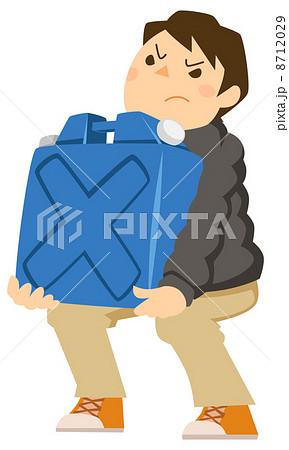 ポリタンクを運ぶ男性 8712029