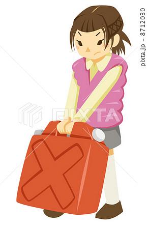 ポリタンクを運ぶ少女 8712030