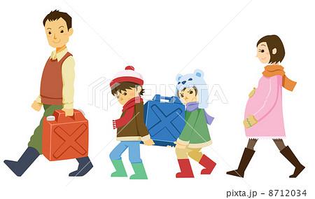 ポリタンクを運ぶ家族 8712034