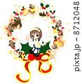 クリスマスイブ ベクター 子供のイラスト 8712048