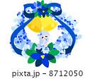 青い服を着た、可愛いクリスマスリースの妖精。 8712050