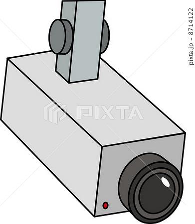 防犯カメラのイラスト素材 8714122 Pixta