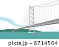 兵庫の明石海峡大橋 8714564