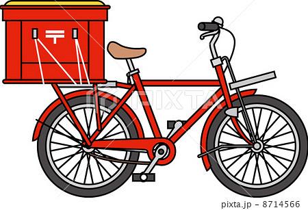 自転車用 自転車用 : 郵便配達用自転車のイラスト ...