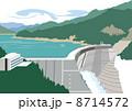 富山の黒部ダム 8714572