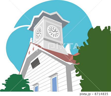 札幌の時計台のイラスト素材 8714835 Pixta