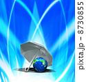 日よけ 傘 地球のイラスト 8730855