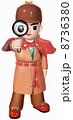探偵 虫眼鏡 人物のイラスト 8736380