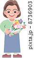 イラスト 人物 花束のイラスト 8736903