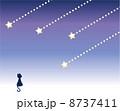 流星 流れ星 黒猫のイラスト 8737411