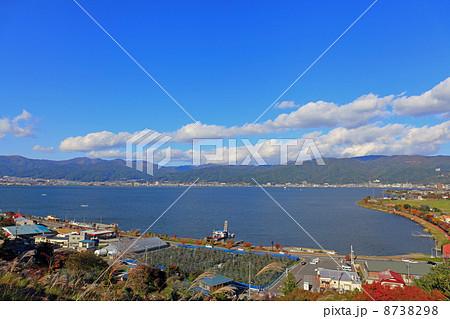 諏訪湖SAからの風景 8738298