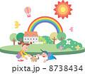人物 遊ぶ 家のイラスト 8738434